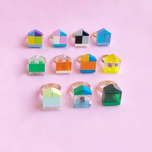 乐高 小房子 戒指 纯铜 免费礼物包装