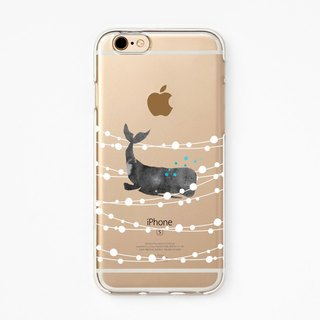 iPhone Rubber Case - Whale Dream - for iPhones - Clear Flexible Rubber TPU case