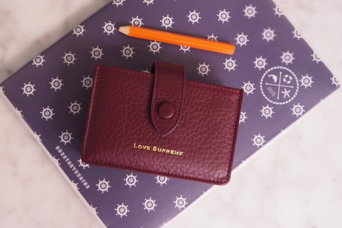Brax Card Holder // Leather Accessories // Love Supreme // Bangkok// Red