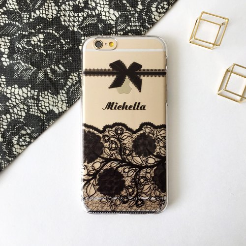 Customer Order Lace Black 01 Print Soft / Hard Case for  iPhone X,  iPhone 8,  iPhone 8 Plus, iPhone 7 case, iPhone 7 Plus case, iPhone 6/6S, iPhone 6/6S Plus, Samsung Galaxy Note 7 case, Note 5 case, S7 Edge case, S7 case