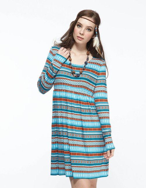 Refreshing Tasting Zone High Waist Stripe Print Dresses