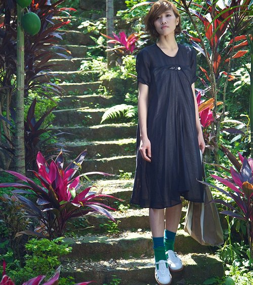 And_ Short-sleeve dress [online sale]