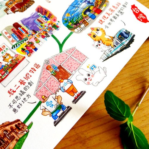 Kaohsiung Chinese Day postcards (single sale) Taiwan day tour