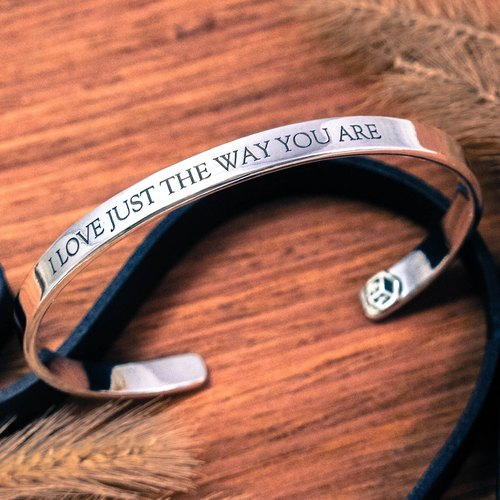 Custom lettering bracelet / bracelet bracelet Proverbs (large) English Text C-999 sterling silver bracelet -64DESIGN