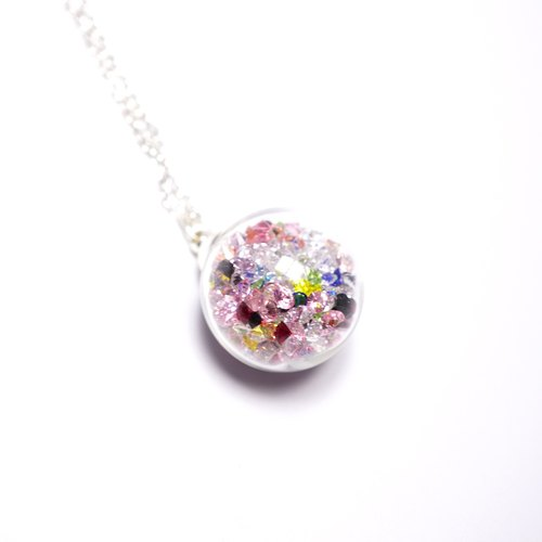 A Handmade Rainbow Necklace Rainbow crystal ball