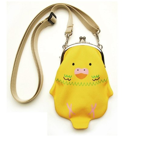 Budgerigars (yellow) Coin Sumaho pochette