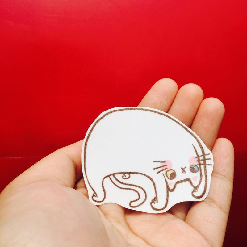 Fleshy Yoga Grand Master meow Zhang waterproof stickers