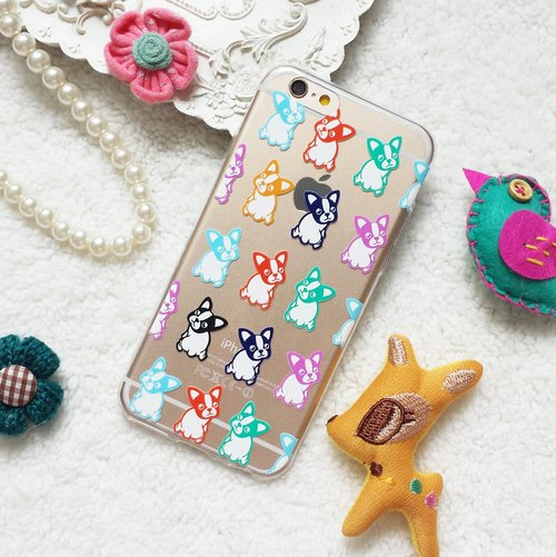 Boston Terri Puppy Dog Pet Pattern Clear TPU silicone Phone Case Cover for iphone X 8 8+ 7 7+ 6 6s Plus Samsung Galaxy S7 edge S8 S8+ Note 5 8 J7 HTC G6 V20 Z5 Xperia X XZ Asus Zenfone TPGBT01