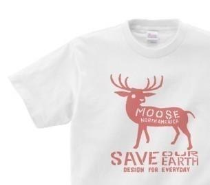 moose WS ~ WL • S ~ XL T-shirt order product]