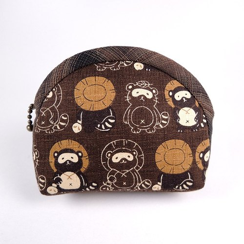 Japanese purse compact package - Raccoon (coffee)