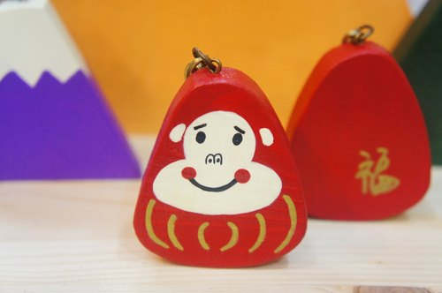 [God] tumbler blessing monkey key ring