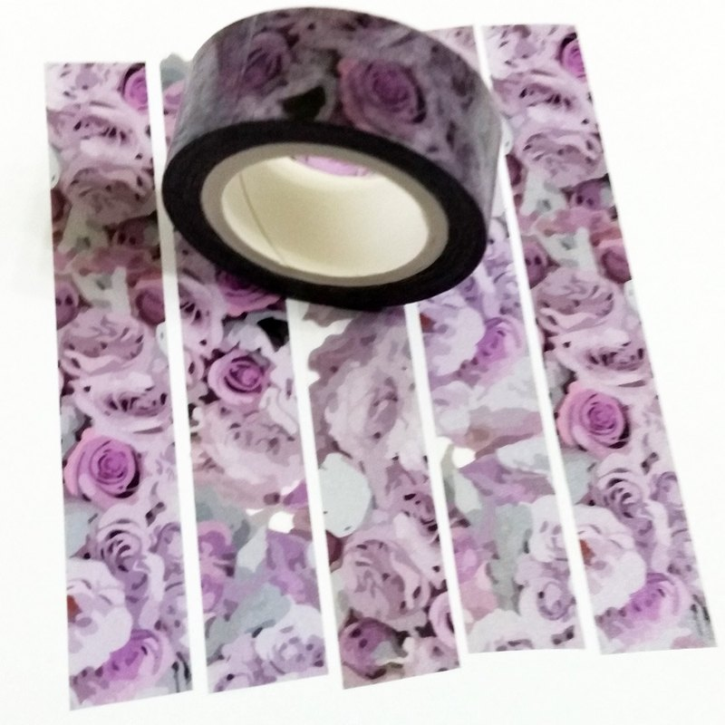 Masking Tape Purple Rose