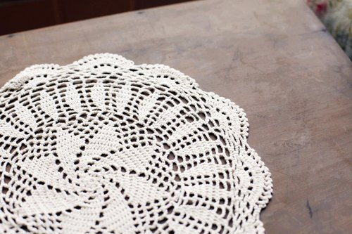 [Good day] fetish hand crocheted lace round type
