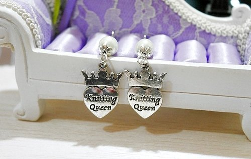 Alloy * Knitting Queen Knitting Queen * _ Hook Earrings