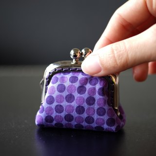 CaCa Crafts | Tiny Kisslock Purse - Purple Polka Dots