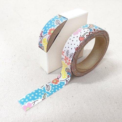 Cloth tape - Floral spring breeze Ukiyo [blue]