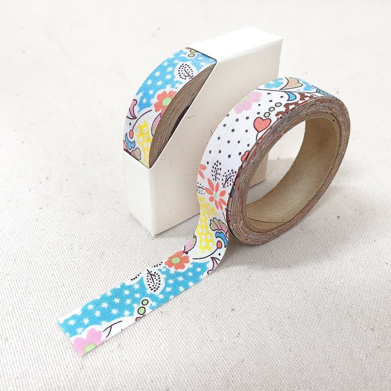 Cloth tape - spring floral [wind and floating floating blue]