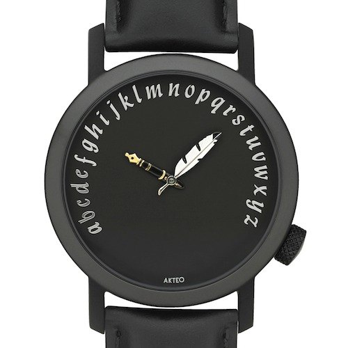 AKTEO French designer watch ART Literary series (WRITER 42mm black)