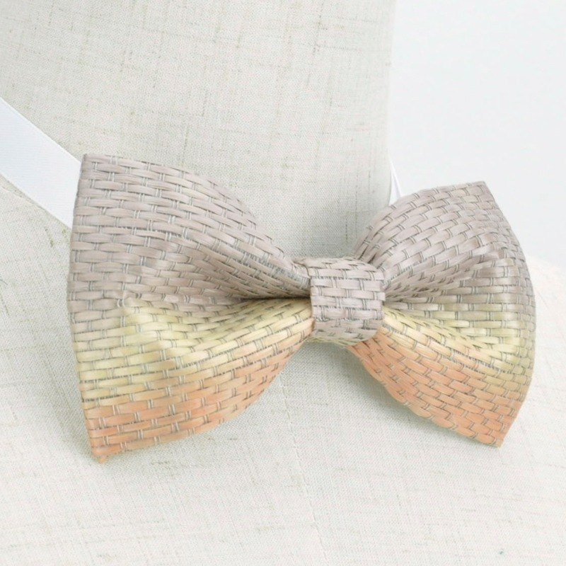 Italian bamboo woven bow tie, handmade bow tie, bamboo mat weaving handmade collar, dream design studio