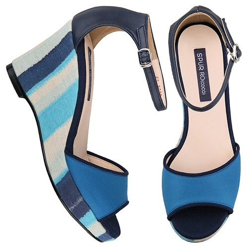 SPUR Color duo platform wedge FS8099 NAVY