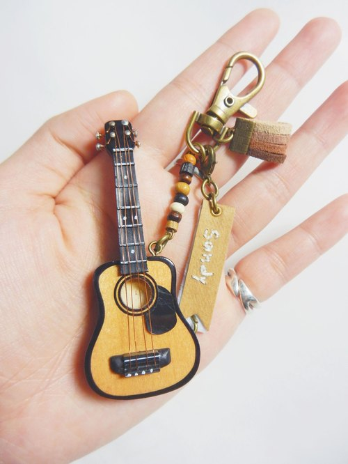 god leading hand made - Music an 8cm mini folk guitar model Charm Decoration (dual) + musical box jewelry box painted texture Sold cartons Gifts birthday gift Valentine's Day gift Christmas gifts music people must have special New Year wishes gifts (pl