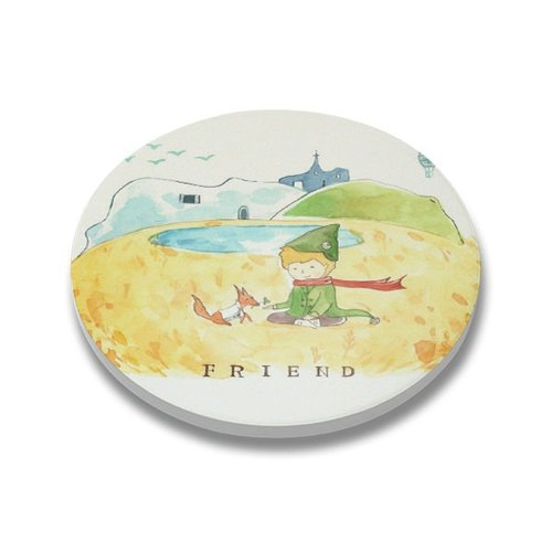 Coasters / coffee coaster / ceramic (2 in)【Little Prince friendship】