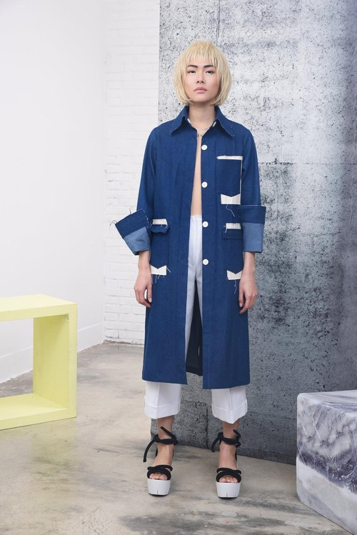 Y-Z Denim Mackintosh Coat