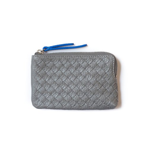 Patina leather hand-woven custom Kenzie Wallets Zero purse