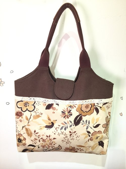 Handmade cloth flowers vest bag shoulder bag
