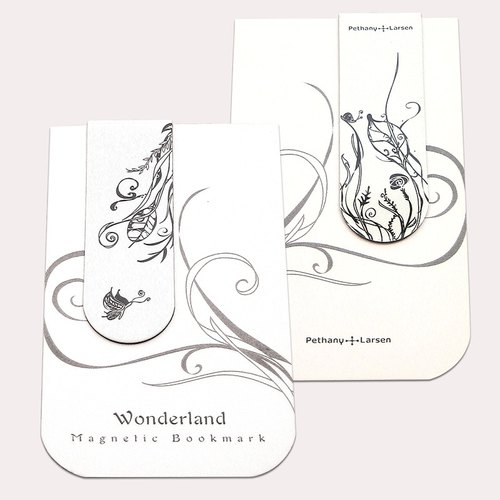 [] Butterfly Garden magnetic bookmarks
