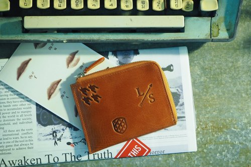 Signature Dries Zip Wallet - Orange Color