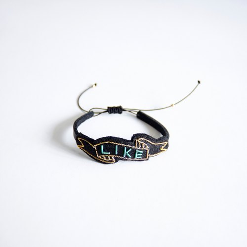 Handmade Metal Embroidery Leather Bracelet, Bangles, LIKE Pattern