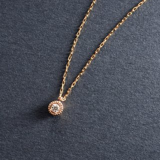 K18PG×Diamond 0.03ct -Necklace- Verseau
