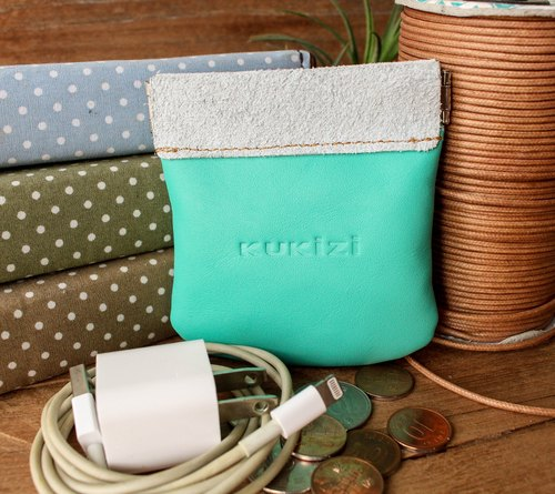 Coin/Earphone/USB Charging Cable Pouch - Pop (Pastel Green)
