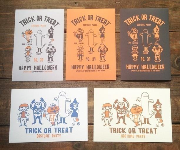 Halloween Post Card Set of 5