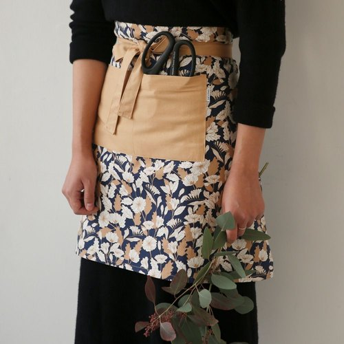 Dailylike- bust pocket work aprons -04 hibiscus, E2D27546