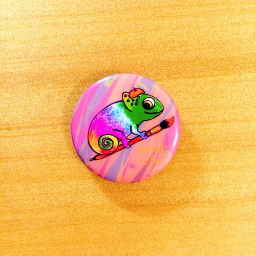 Darwa-- Painter chameleon - badge