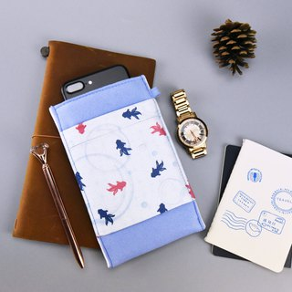 JAPANESE PAINTING【Goldfish】OM CLEANING-FIBER CELL PHONE POUCH