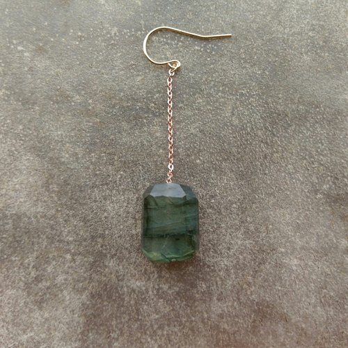 Single Labradorite Earring