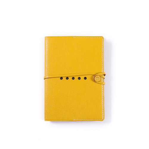 Patina leather handmade custom leather notebook A6 PDA · slipcase