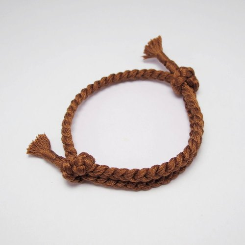 [MUCHU Mu Orange] Make a wish. Wishing woven bracelet / hand rope (801)