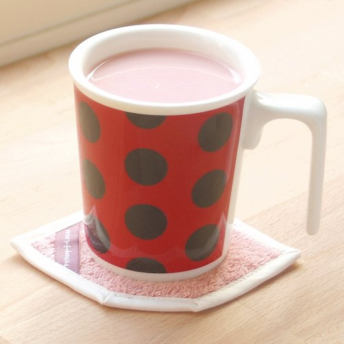 Kissing Mug & House Coaster Gift Set (Ladybug)