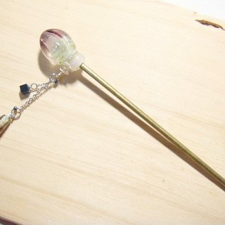 Grapefruit Handcrafted Glass - Elegant - Hairpin