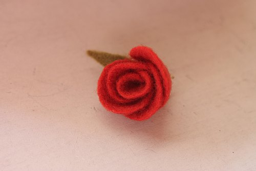Hematoxylin and natural vegetable dyes rose brooch hairpin currently available direct from stock index