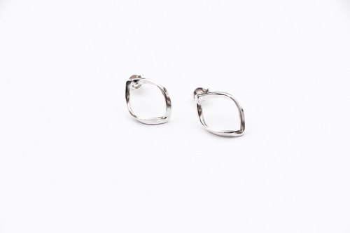 Simple lines series ⎮ ⎮ribbon earrings sterling silver earrings