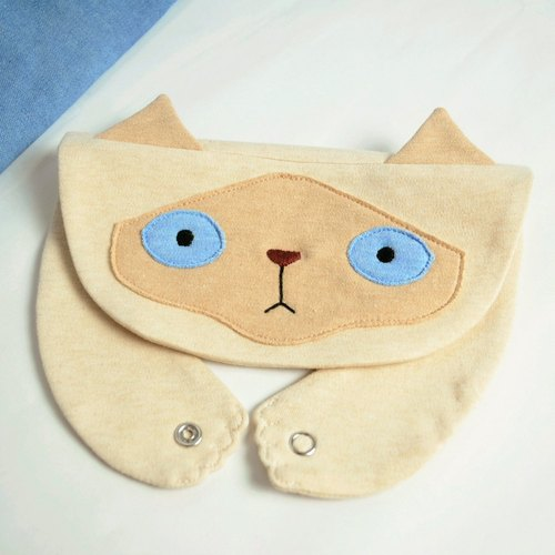 [Alley Cat series - Mocha] organic cotton bibs bibs