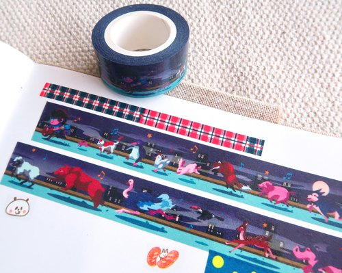 【Pin】Music Night Party│Masking tape│20mm