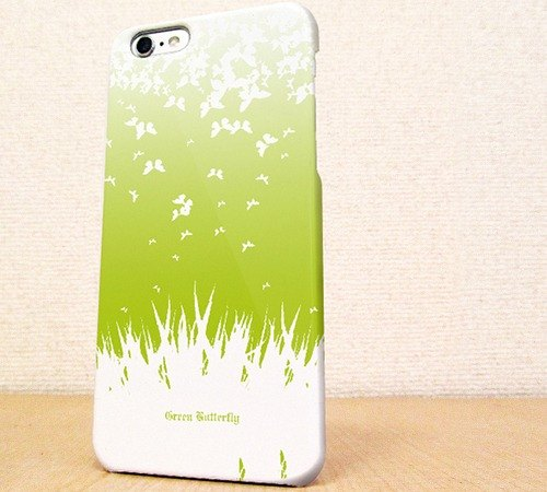 (Free shipping) iPhone case GALAXY case ☆ Green butterfly