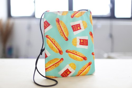 Kidcatss- hot dogs × potato pie - tarpaulin shoulder bag