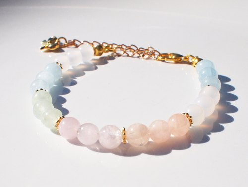 Spring color ✴sweet candy color❤ morganite bracelet